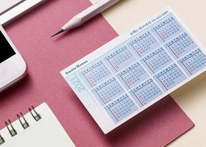 ビスタプリントオリジナルカードカレンダー
